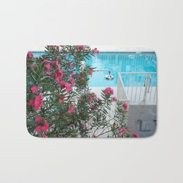 flowers at the pool Bath Mat