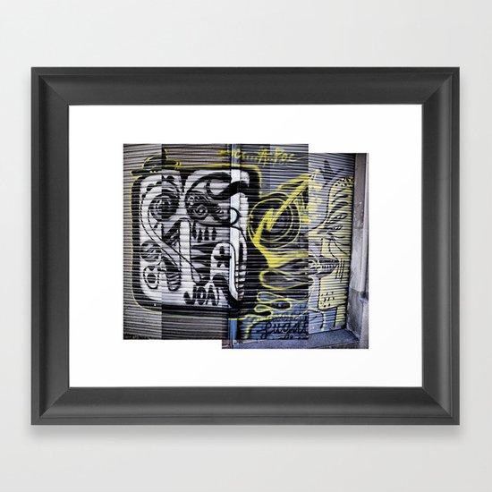 """...keeping some demon down..."" Framed Art Print"