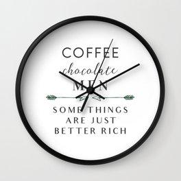 Coffee Chocolate Men Wall Clock