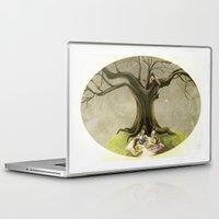 macaroons Laptop & iPad Skins featuring Tea & Macaroons by Erika Meza