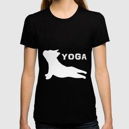 Cute French Bulldog. Yoga. Yoga Lover T-shirt