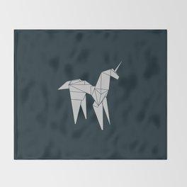 Blade R. Unicorn, Origami Artwork for Wall Art, Prints, Posters, Tshirts, Women, Men, Kids Throw Blanket