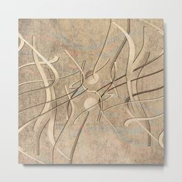 string theory. 2019. silver Metal Print