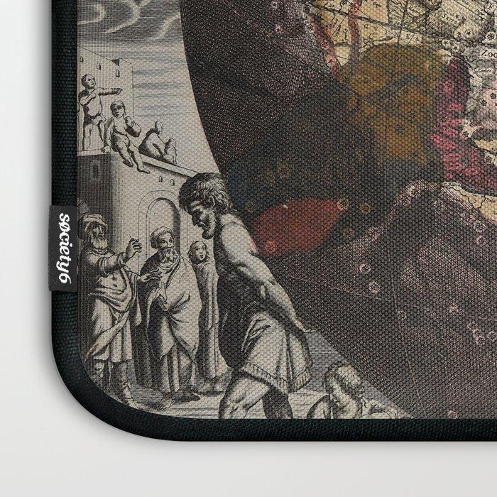 Keller's Harmonia Macrocosmica - Northern Celestial and Terrestrial Hemispheres 1708 Laptop Sleeve