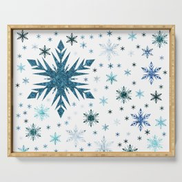 Frosty Abstract Serving Tray
