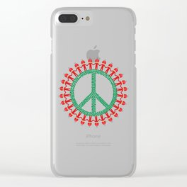 Peace Weed Mushroom Clear iPhone Case