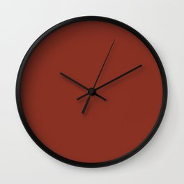 Simply Solid - Burnt Umber Wall Clock