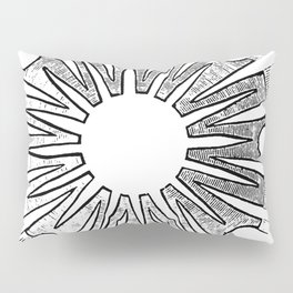 Polypite of Aurelia Aurita Cut Pillow Sham