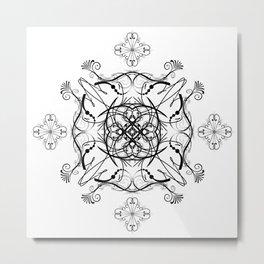Graphic Black and White Mandala 4 Metal Print