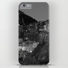Black and White Cinque Terre - Italy iPhone Case