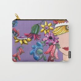 I Love the Flower Girl Lavender Carry-All Pouch