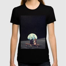 We Used To Live There Womens Fitted Tee MEDIUM Black
