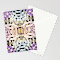 Wave Pattern 4, Black Stationery Cards