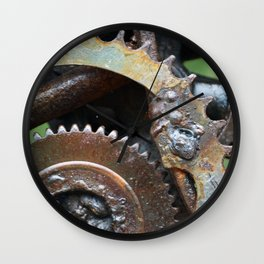 Rusted Wheel Wall Clock