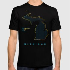 MDOT - Michigan Land & Maritime Borders Mens Fitted Tee Black LARGE