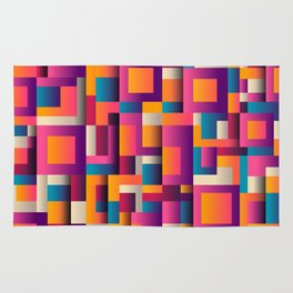 Abstract Background Geometry Blocks Squares Rug