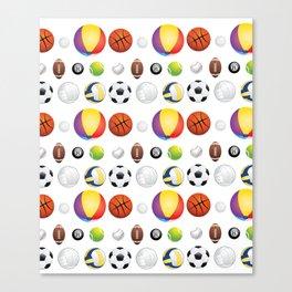 Sport Balls Canvas Print