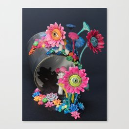Candi(e)d Watch, Eyed Daisies and Mushrooms Canvas Print