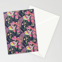 Paper Cut Birds [dark] Stationery Cards