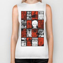 RED & WHITE - A nne Frankenstein Book I - Resurrection Biker Tank