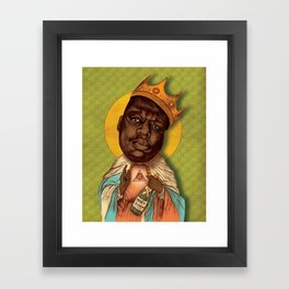 Saint Biggie! Framed Art Print