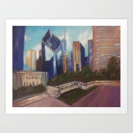 Chicago Diamond Art Print