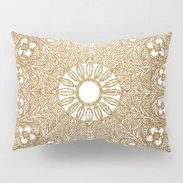 Golden Doily Pillow Sham