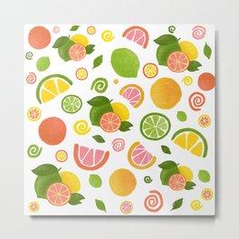 Summer citrus set Metal Print