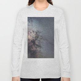 Starry sky with millions of stars, Milky Way galaxy, Antares Region Long Sleeve T-shirt