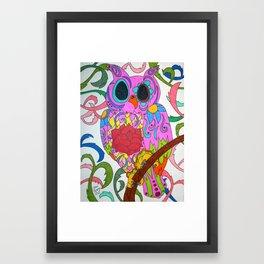 Day of the Dead Owl Framed Art Print