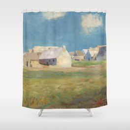 Odilon Redon - Breton Village Shower Curtain
