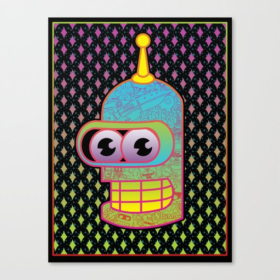 Mr. Shiny Metal  Canvas Print