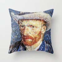 van gogh Throw Pillows featuring Van Gogh  by klausbalzano