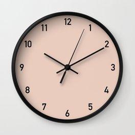 Clock numbers peach 2 Wall Clock