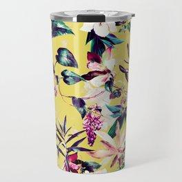 Colorful vibrant bloom Travel Mug
