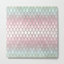 Pretty Mermaid Scales 19 Metal Print