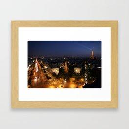 Paris from the Arc Framed Art Print