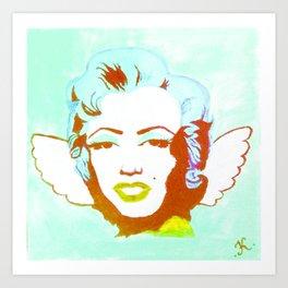 Blue Angel Marilyn Art Print