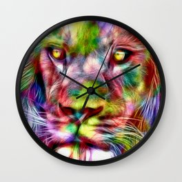 Lion in Color Wall Clock
