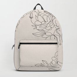 Woman with Flowers Minimal Line III Backpack