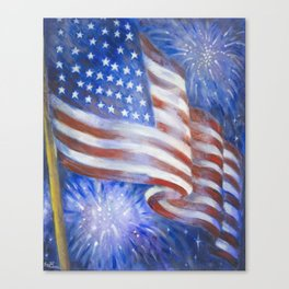 I Pledge Allegiance to the Flag Canvas Print