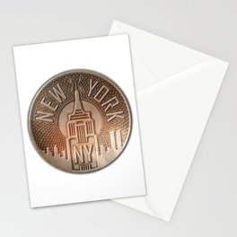 New York Subway Token Stationery Cards