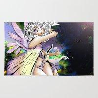 fairy Area & Throw Rugs featuring Fairy by JoySlash