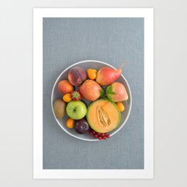 Fruits on a plate Art Print