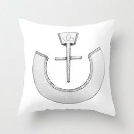 """Nazarene """"ن"""" Throw Pillow"""