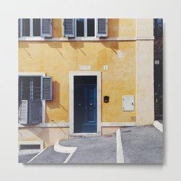 ITALY ROME Print Travel Wall Art Home Decor Yellow Square Prints SALE Metal Print
