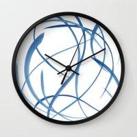koi fish Wall Clocks featuring Koi Fish by Dena Carter