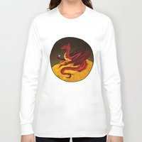 smaug Long Sleeve T-shirts featuring Smaug the Golden by RedWryvenArt