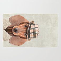 The stylish Mr Dachshund Rug