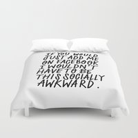 facebook Duvet Covers featuring Facebook by The Good Type Collective